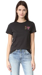 Marc Jacobs Embroidered Classic Tee Black