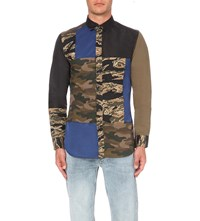 Diesel S Confu Slim Fit Cotton And Shell Shirt Green