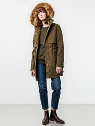 Parka London Lara Faux Fur Lined Khaki