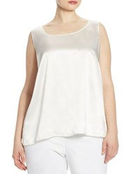Lafayette 148 New York Cleo Silk Charmeuse Blouse Cloud
