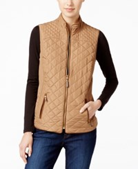 Charter Club Quilted Puffer Vest Only At Macy's Salty Nut