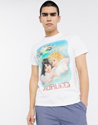 Fiorucci T Shirt In White With Angel Ufo Print
