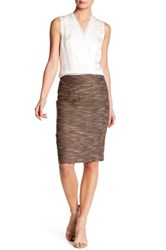 Catherine Malandrino Woven Slim Skirt Yellow