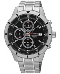 Seiko Men's Chronograph Special Value Stainless Steel Bracelet Watch 43Mm Sks561 Silver