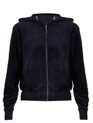 The Upside Orlando Hooded Velour Performance Top Navy