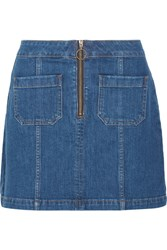 Madewell Denim Mini Skirt Blue