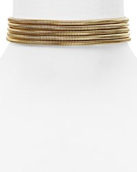 Baublebar Five Row Snake Chain Choker Necklace 12 Gold