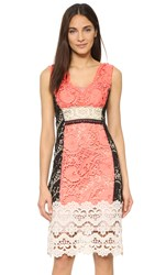 Nanette Lepore Daquiri Lace Dress Tangerine Multi