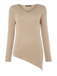 Replay Asymmetric Knitted Jumper Brown