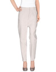 Masnada Trousers Casual Trousers Women Light Grey
