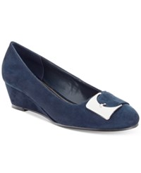 Impo Gustine Wedge Pumps Women's Shoes Navy