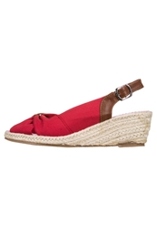 Mustang Wedge Sandals Rot Red