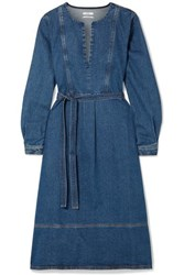 Co Belted Denim Dress Dark Denim