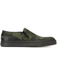 Alexander Mcqueen Floral Slip On Sneakers Black