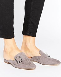 London Rebel Buckle Mule Shoe Grey Black Mf