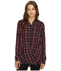 Mavi Jeans Checked Blouse Plum Check Women's Clothing Purple