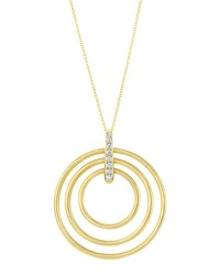 Carelle Moderne 18K Diamond Circle Pendant Necklace