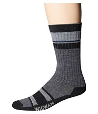 Wigwam Pikes Peake Pro Crew Single Charcoal Crew Cut Socks Shoes Black