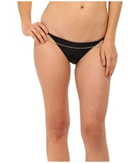 Agua De Coco By Liana Thomaz Scoop Chain Bottom Black Women's Swimwear