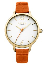 Lipsy Ladies Orange Strap Watch