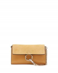 Chloe Faye Suede Leather Wallet On A Strap Yellow