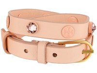Tory Burch Crystal Beaded Double Wrap Bracelet Pale Apricot Tory Gold