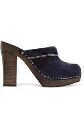 See By Chloe Angie Suede Clogs Midnight Blue