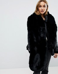 Club L Faux Fur Stole Black
