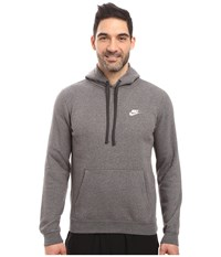 Nike Club Fleece Pullover Hoodie Charcoal Heather Charcoal Heather White Men's Fleece Gray