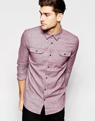 New Look Shirt In Brushed Flannel With Long Sleeves Purple