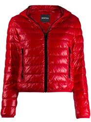 Duvetica Hooded Puffer Jacket Red