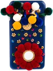 Dolce And Gabbana Embellished Iphone 6 Plus Case Blue