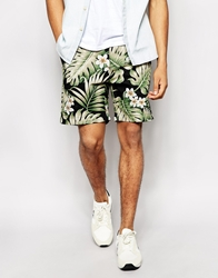Penfield Shorts With Black Palm Print