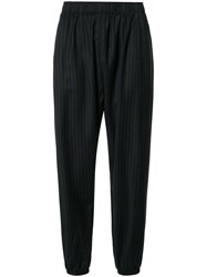 Engineered Garments Elasticated Waist Cropped Trousers Blue