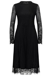 Morgan Rlong Summer Dress Noir Black