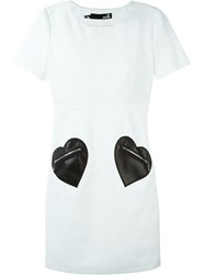 Love Moschino Heart Patch Shift Dress White