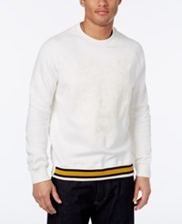 Sean John Men's Big And Tall Tiger Embroidered Sweatshirt White