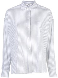 Vince Tailored Pinstripe Shirt Blue