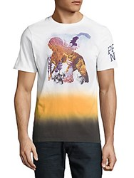 Prps Ombre Printed Cotton Tee White