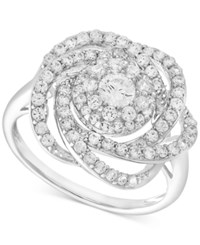 Wrapped In Love Diamond Ring 14K White Gold Diamond Pave Knot Ring 1 Ct. T.W.