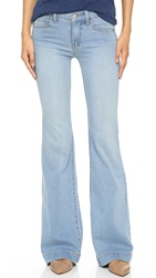 Free People Clean Mid Rise Flare Trousers Marlin
