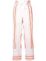Lemlem Fiesta Striped Beach Trousers Yellow