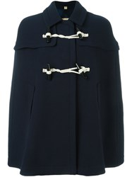 Burberry Duffle Cape Blue