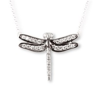 J. Herwitt Small Dragonfly Necklace Silver