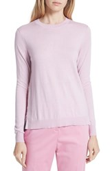 Ted Baker London Kaleese Serenity Pleat Back Silk Cotton Sweater Lilac