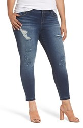 Slink Jeans Plus Size Women's Distressed Ankle Jeggings