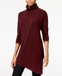 Rachel Roy Asymmetrical Turtleneck Tunic Dark Pinot Noir