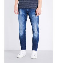 Replay Anbass Slim Fit Tapered Jeans Blue