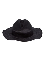 Horisaki Design And Handel Wide Brim Fedora Black