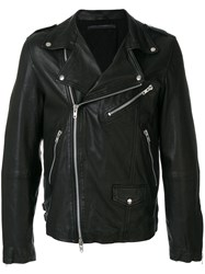 Munderingskompagniet Multi Zip Biker Jacket Cotton Sheep Skin Shearling Polyester M Black